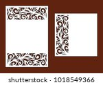 laser cutting template for...   Shutterstock .eps vector #1018549366