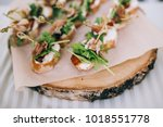 beautifully decorated catering... | Shutterstock . vector #1018551778