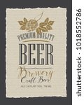 template beer label with malt... | Shutterstock .eps vector #1018552786