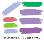 collection of hand drawn... | Shutterstock .eps vector #1018557952