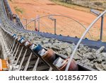 platinum mining and processing... | Shutterstock . vector #1018567705
