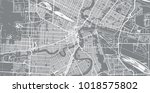 urban vector city map of... | Shutterstock .eps vector #1018575802