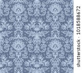 seamless blue lace background... | Shutterstock .eps vector #1018588672