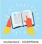 vector cartoon illustration of... | Shutterstock .eps vector #1018590646