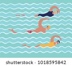 vector cartoon illustration of... | Shutterstock .eps vector #1018595842