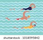 vector cartoon illustration of... | Shutterstock .eps vector #1018595842
