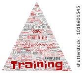 vector conceptual training ... | Shutterstock .eps vector #1018601545