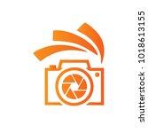 photography icon vector logo... | Shutterstock .eps vector #1018613155