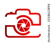 photography icon vector logo... | Shutterstock .eps vector #1018613896