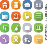 flat vector icon set   home... | Shutterstock .eps vector #1018614832