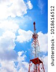 television antenna antenna on... | Shutterstock . vector #1018616512