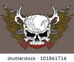 gun wing skull isolated   Shutterstock .eps vector #101861716
