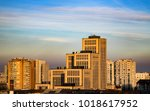 view of the towers and... | Shutterstock . vector #1018617952
