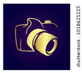 photography icon vector logo... | Shutterstock .eps vector #1018621225