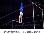 performance of an acrobat on a... | Shutterstock . vector #1018621546