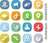 flat vector icon set   pointer... | Shutterstock .eps vector #1018622125