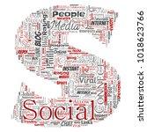 conceptual social media... | Shutterstock . vector #1018623766