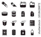 solid black vector icon set  ... | Shutterstock .eps vector #1018628872