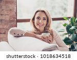 close up portrait of smiling... | Shutterstock . vector #1018634518