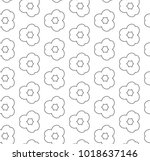 seamless geometric ornamental... | Shutterstock .eps vector #1018637146