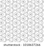seamless geometric ornamental... | Shutterstock .eps vector #1018637266