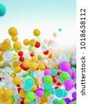 colorful bouncing balls... | Shutterstock . vector #1018638112