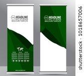 roll up business brochure flyer ...   Shutterstock .eps vector #1018657006