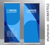 roll up business brochure flyer ... | Shutterstock .eps vector #1018657012