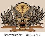 evil wing skull   Shutterstock .eps vector #101865712