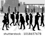 street of the city . | Shutterstock .eps vector #1018657678
