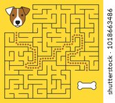 labyrinth maze game with... | Shutterstock .eps vector #1018663486