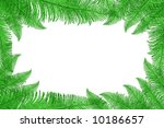 frame made of leaves  isolated... | Shutterstock . vector #10186657