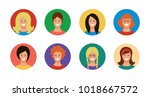 a set of icons of 8 different... | Shutterstock .eps vector #1018667572