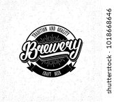 brewery hand drawn lettering... | Shutterstock .eps vector #1018668646