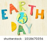 earth day concept | Shutterstock . vector #1018670356