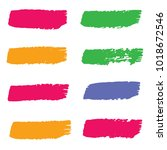 set of hand painted colorful... | Shutterstock .eps vector #1018672546