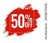 red blobs sale banner  vector... | Shutterstock .eps vector #1018673428