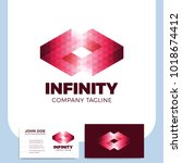 infinity symbol logo design... | Shutterstock .eps vector #1018674412