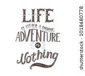 vector hand lettering quote of...   Shutterstock .eps vector #1018680778