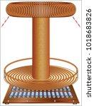 death ray  tesla's death ray   | Shutterstock .eps vector #1018683826