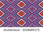 ethnic geometric pattern .... | Shutterstock .eps vector #1018689172