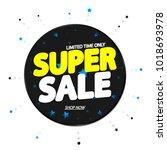 super sale  banner design...   Shutterstock .eps vector #1018693978