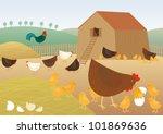 chicken farm | Shutterstock .eps vector #101869636