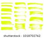 vector yellow highlighter brush ... | Shutterstock .eps vector #1018702762