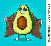 avocado exhibitionist in... | Shutterstock .eps vector #1018704895
