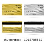 modern credit card  business... | Shutterstock .eps vector #1018705582