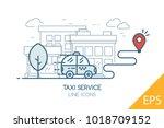 taxi service. modern design... | Shutterstock .eps vector #1018709152