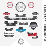 set of retro banners and... | Shutterstock .eps vector #101870956