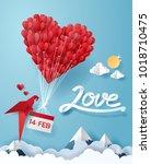 vector illustration.valentine's ... | Shutterstock .eps vector #1018710475