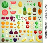 vector fruits collection ... | Shutterstock .eps vector #101871292